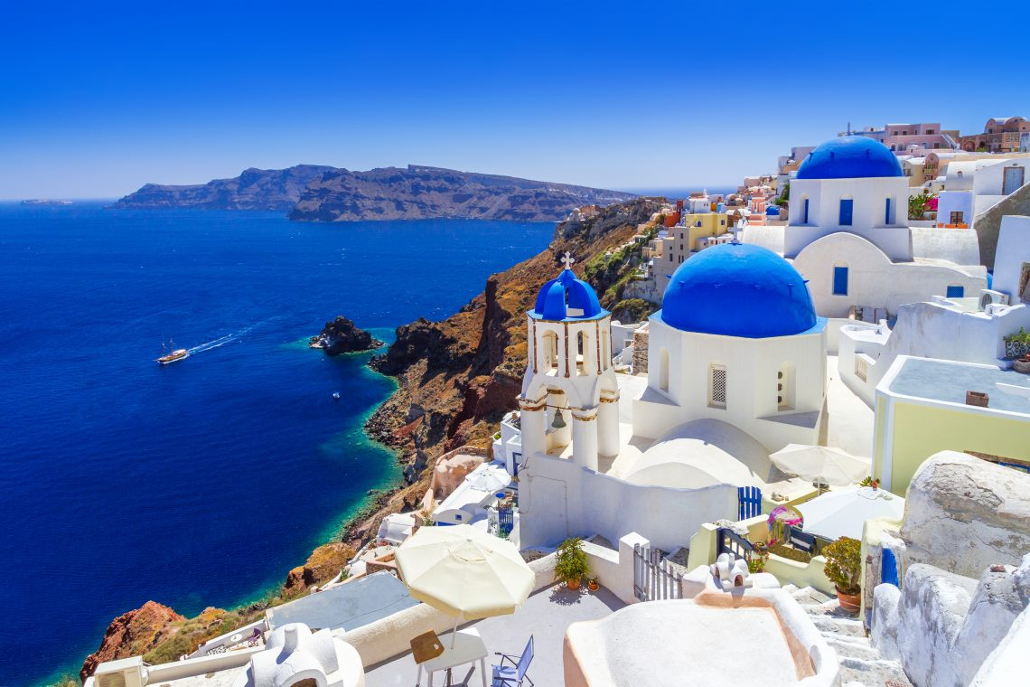 Beautiful Oia town on Santorini island, Greece